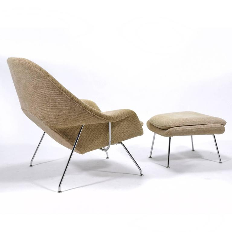 Eero Saarinen Womb Chair and Ottoman by Knoll 7
