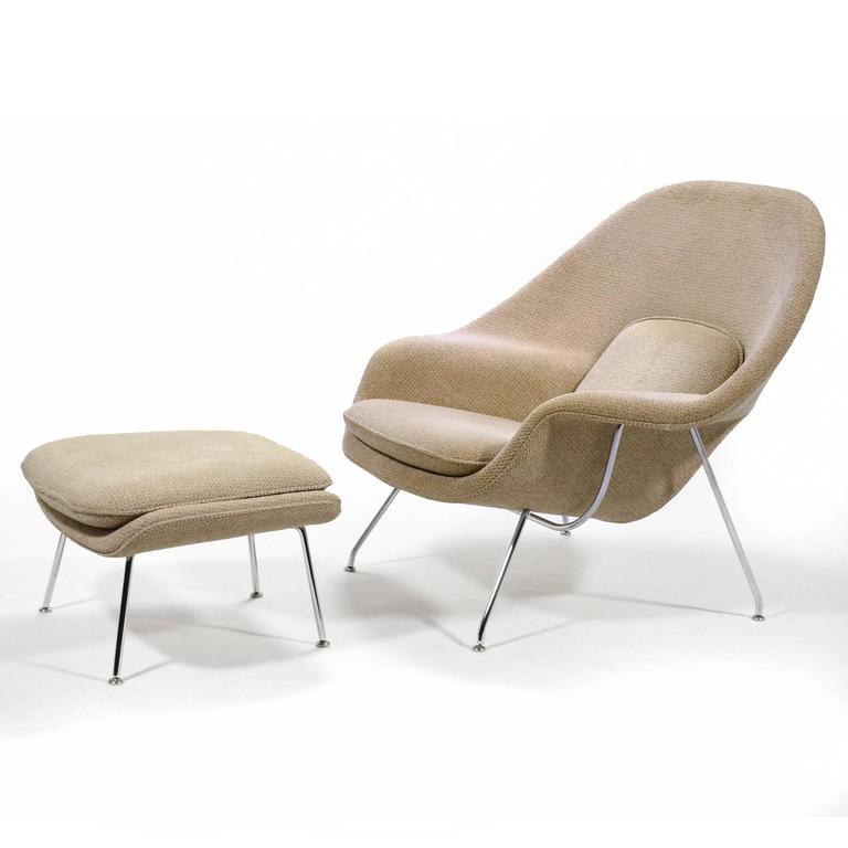 Eero Saarinen Womb Chair and Ottoman by Knoll 9