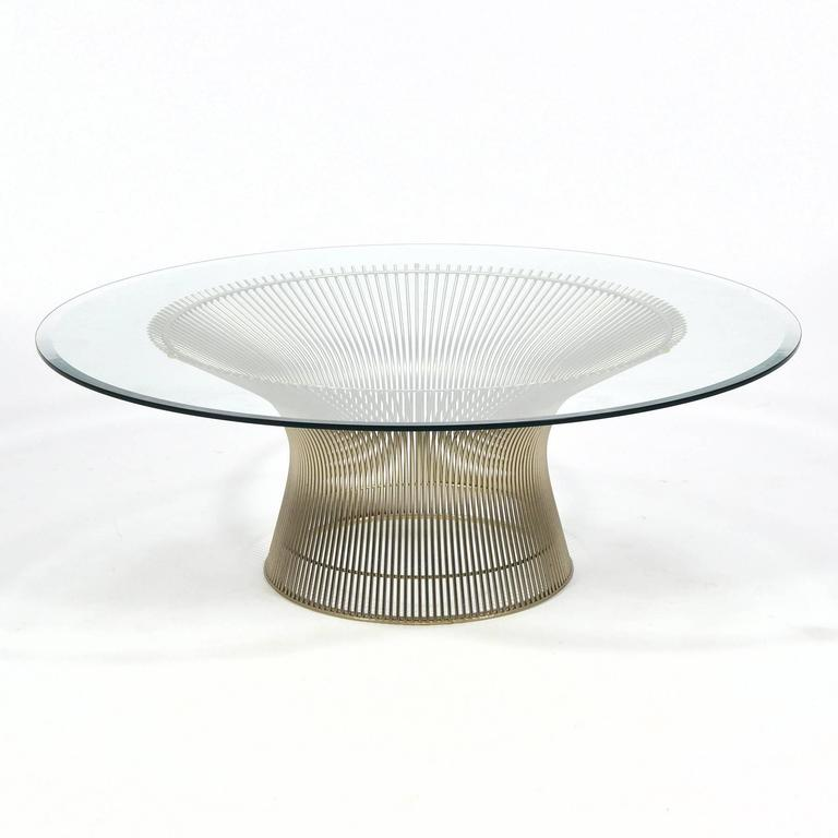 Warren platner coffee table by knoll for sale at 1stdibs for Warren platner coffee table