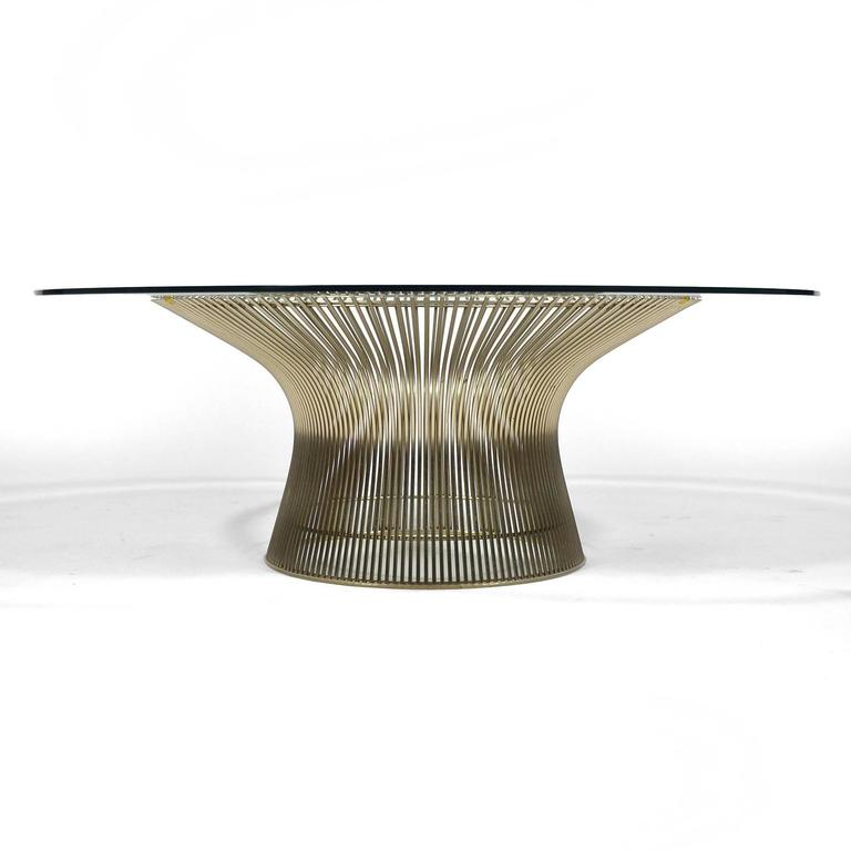 Steel Warren Platner Coffee Table by Knoll For Sale