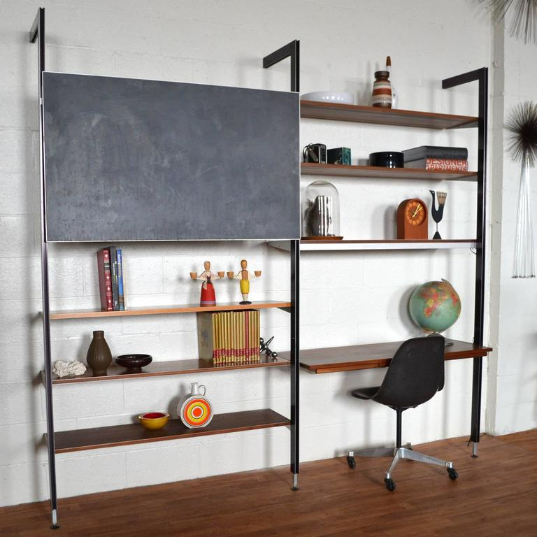 George Nelson Css Shelving Unit With Chalkboard By Herman