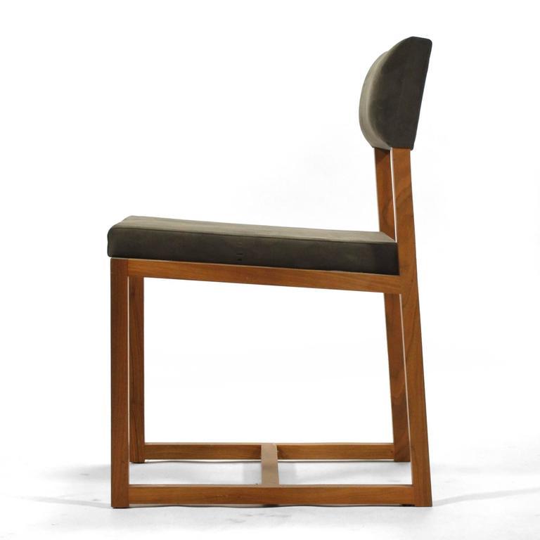 De la espada black walnut dining chairs for sale at 1stdibs for Black dining chairs for sale