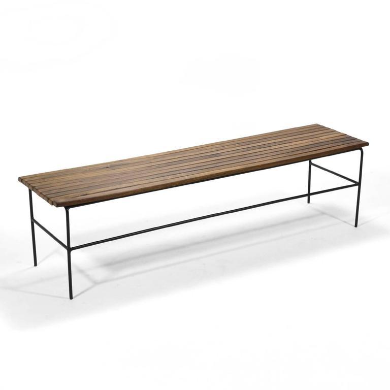 Arthur Umanoff Slat Bench Table At 1stdibs