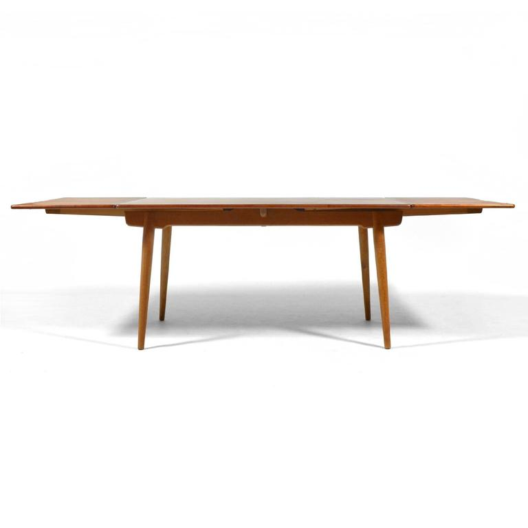 Danish Hans Wegner AT312 Draw-Leaf Dining Table by Andreas Tuck For Sale