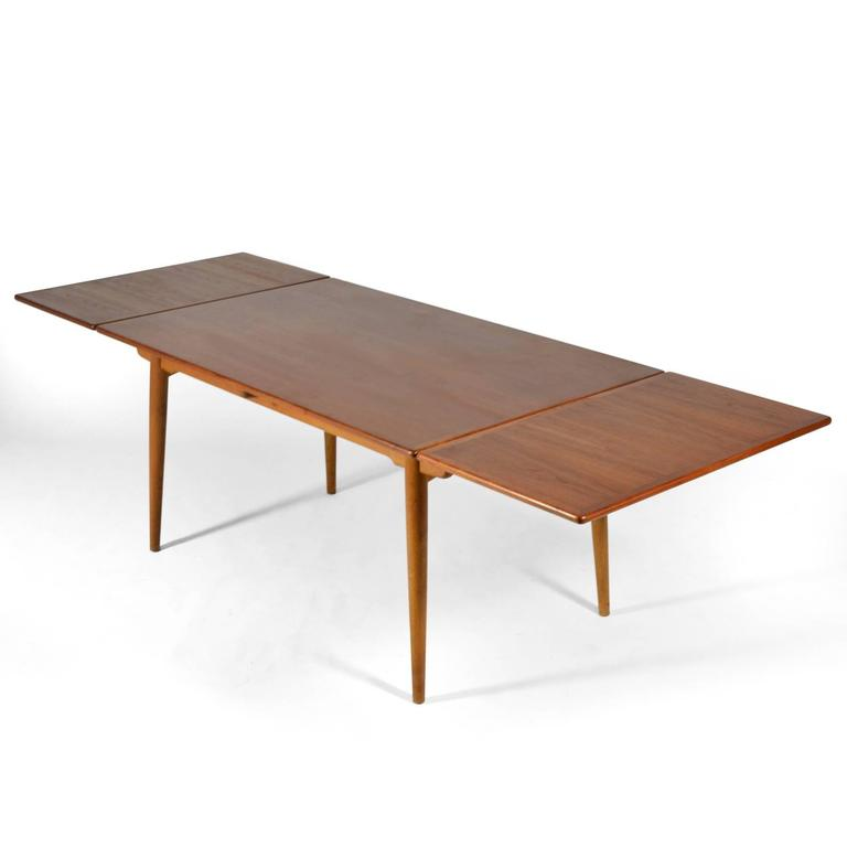 Mid-20th Century Hans Wegner AT312 Draw-Leaf Dining Table by Andreas Tuck For Sale