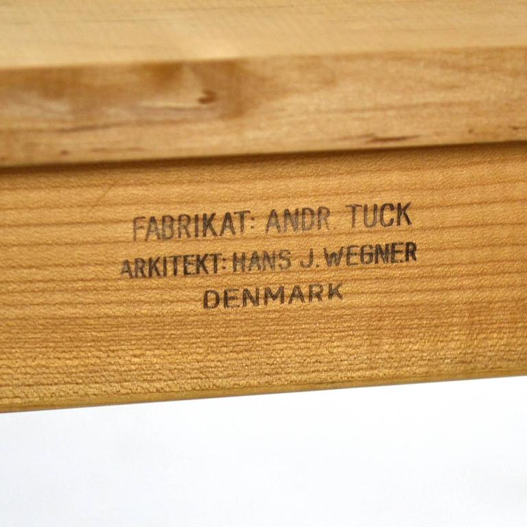 Hans Wegner AT312 Draw-Leaf Dining Table by Andreas Tuck For Sale 3