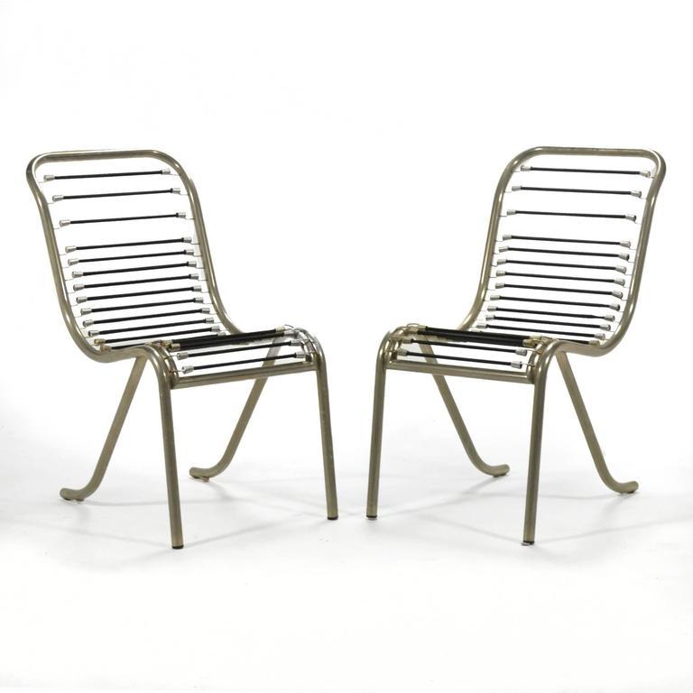 Pair of René Herbst Sandows Chairs 3