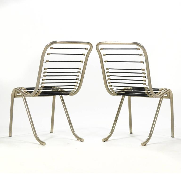 Pair of René Herbst Sandows Chairs In Good Condition For Sale In Highland, IN