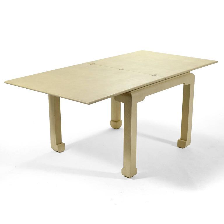 Hollywood Regency Karl Springer Flip-Top Game / Dining Table For Sale
