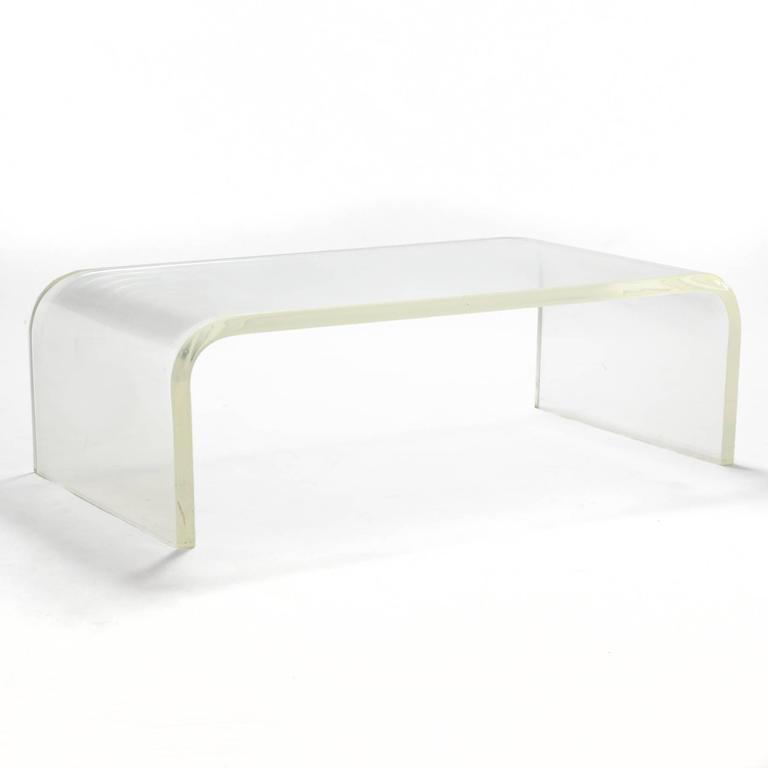 1970s Lucite Waterfall Coffee Table 2