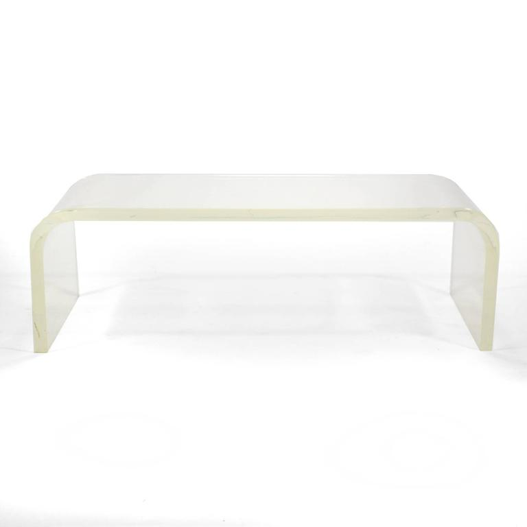 1970s Lucite Waterfall Coffee Table 3