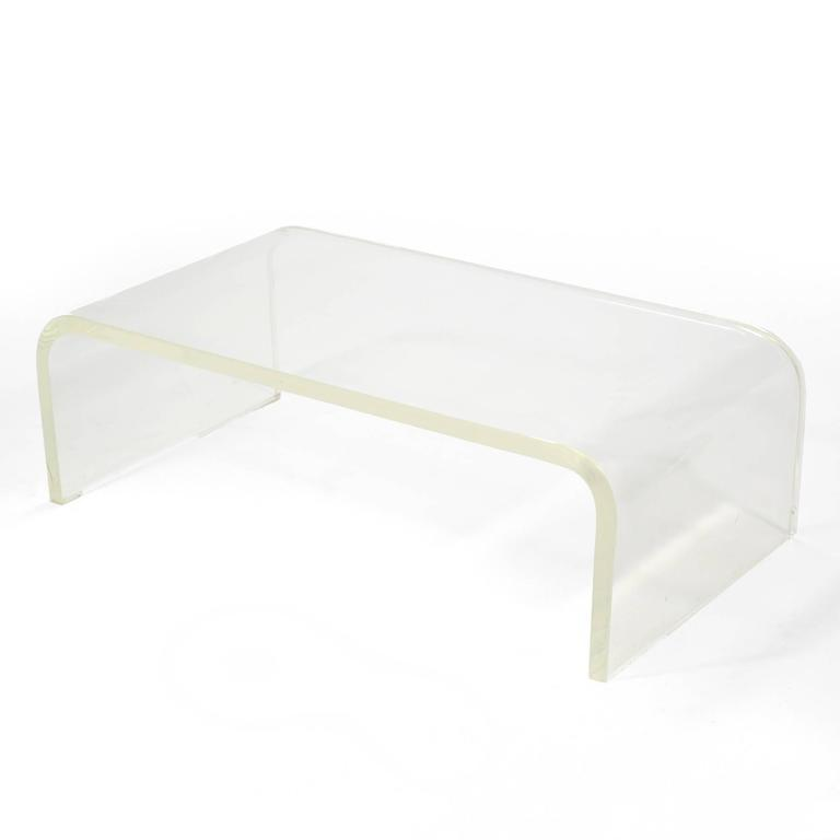 1970s Lucite Waterfall Coffee Table 4