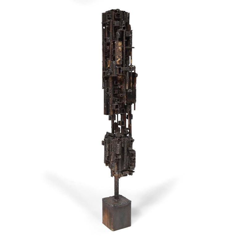 This compelling sculpture by Iowa artist James Bearden is from his