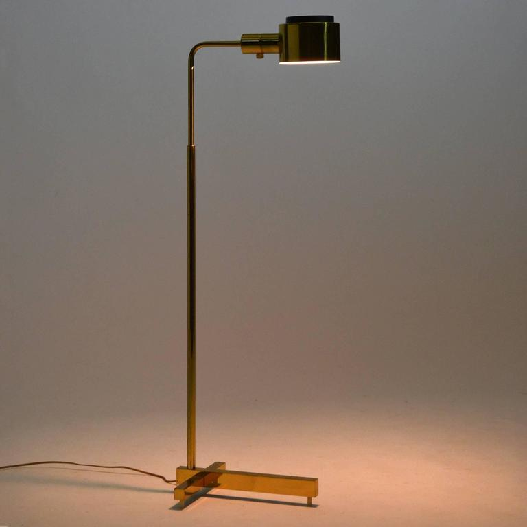 Casella adjustable pharmacy floor lamp in brass at 1stdibs casella adjustable pharmacy floor lamp in brass for sale 2 aloadofball Image collections
