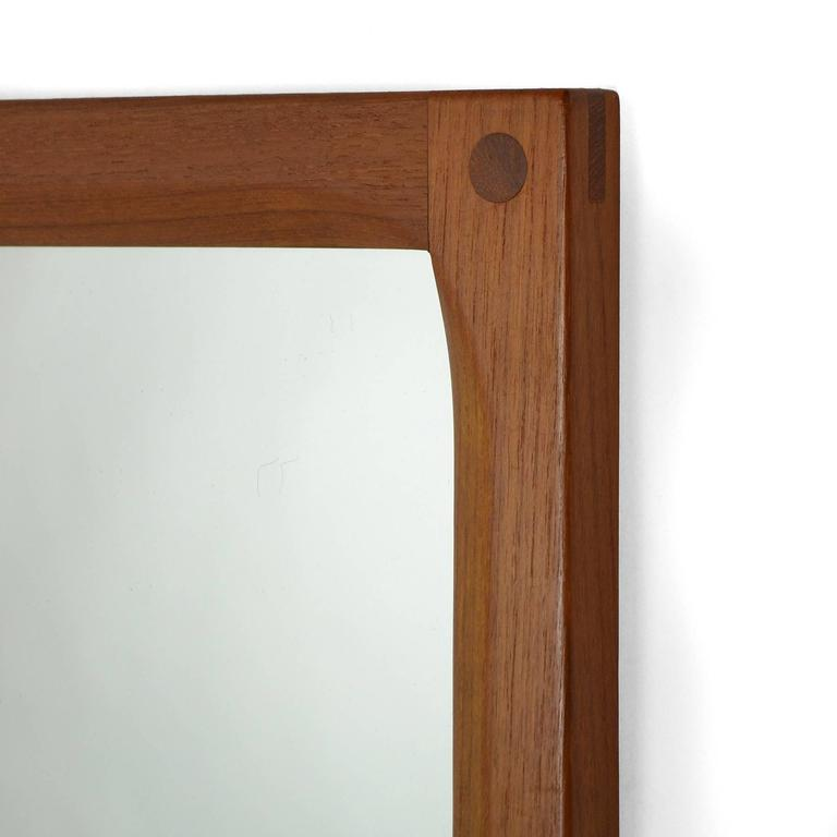 Aksel Kjersgaard Teak Mirror by Odder in Denmark In Excellent Condition For Sale In Highland, IN