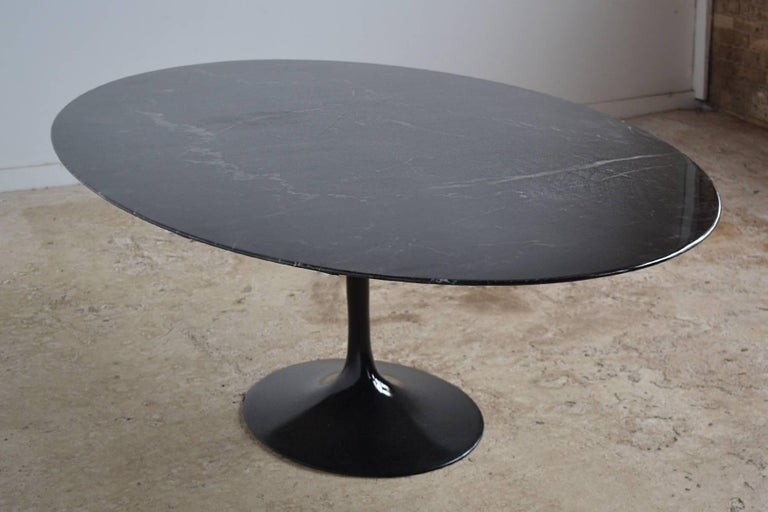 Eero Saarinen Black Marble Tulip Table by Knoll 5