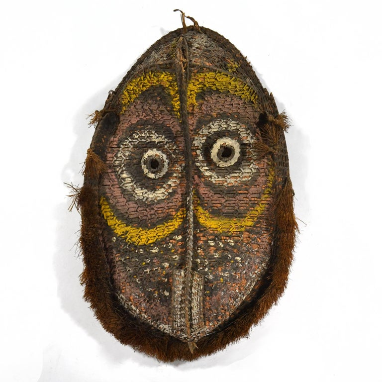 Tribal Large Basketry Gable Mask from Papua New Guinea For Sale