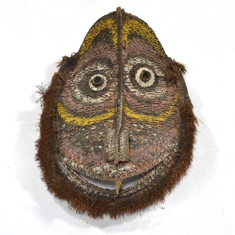 Mid-20th Century Large Basketry Gable Mask from Papua New Guinea For Sale