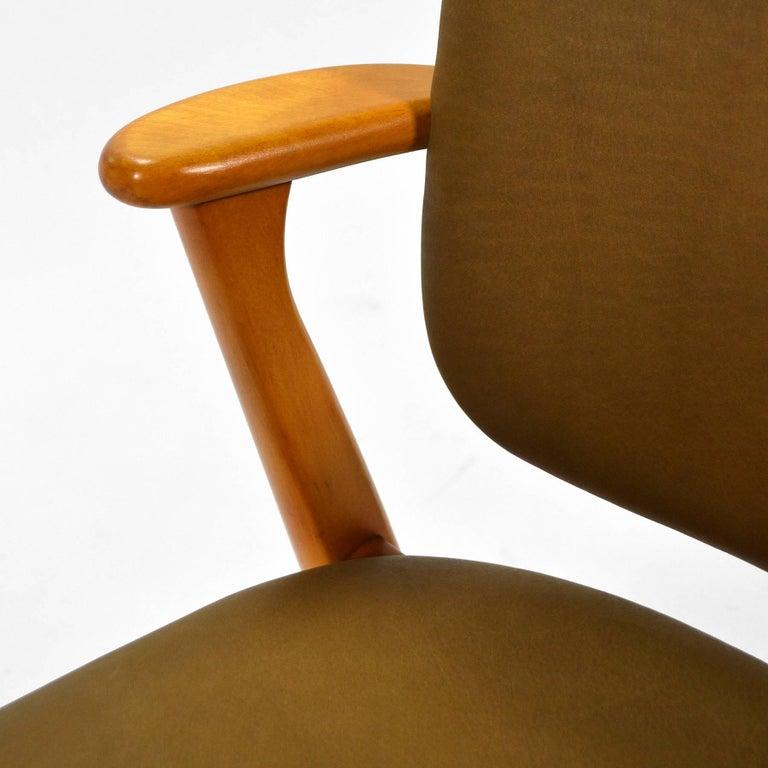 Leather Ilmari Tapiovaara Domus Armchair For Sale