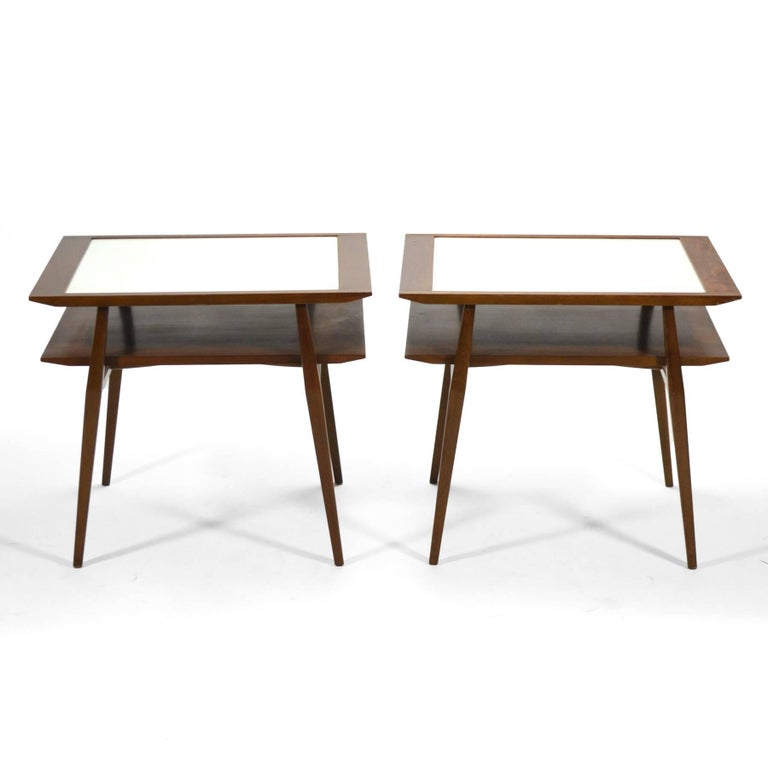 Formica Bertha Schaefer Pair of End Tables by Singer & Sons For Sale