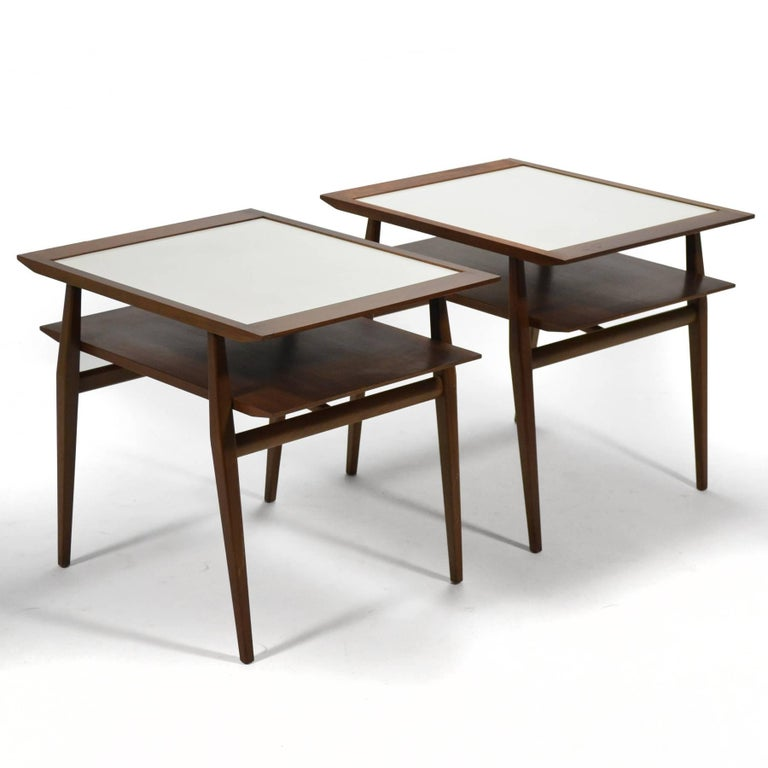 Mid-20th Century Bertha Schaefer Pair of End Tables by Singer & Sons For Sale