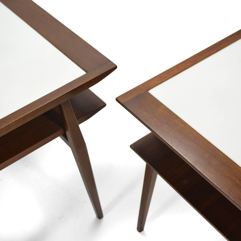 Bertha Schaefer Pair of End Tables by Singer & Sons In Good Condition For Sale In Highland, IN