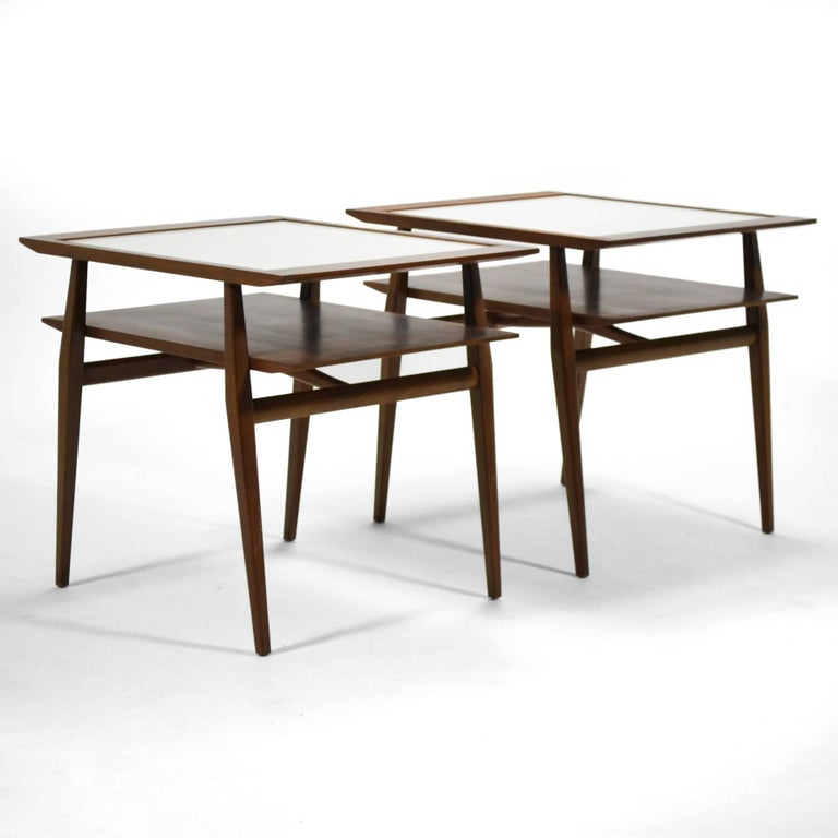 Bertha Schaefer Pair of End Tables by Singer & Sons 9