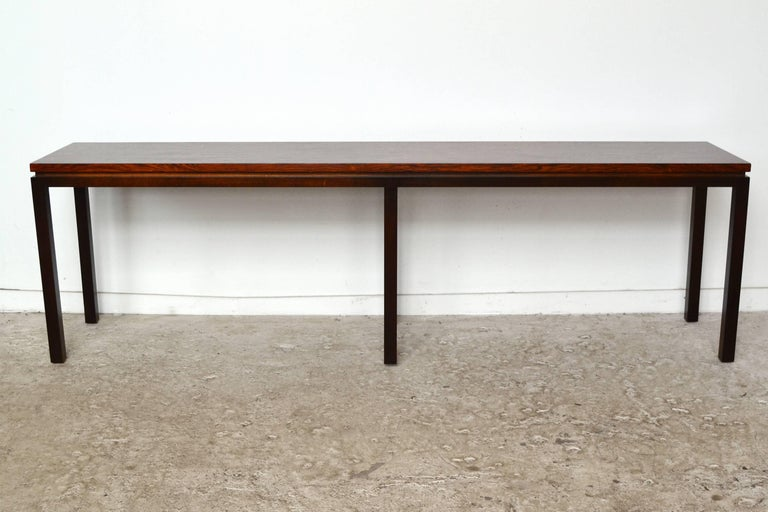 Mid-Century Modern Harvey Probber Rosewood Console Table For Sale
