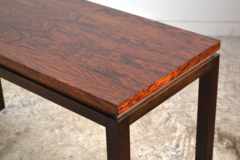 Mahogany Harvey Probber Rosewood Console Table For Sale