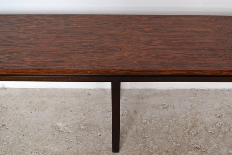 Harvey Probber Rosewood Console Table For Sale 1
