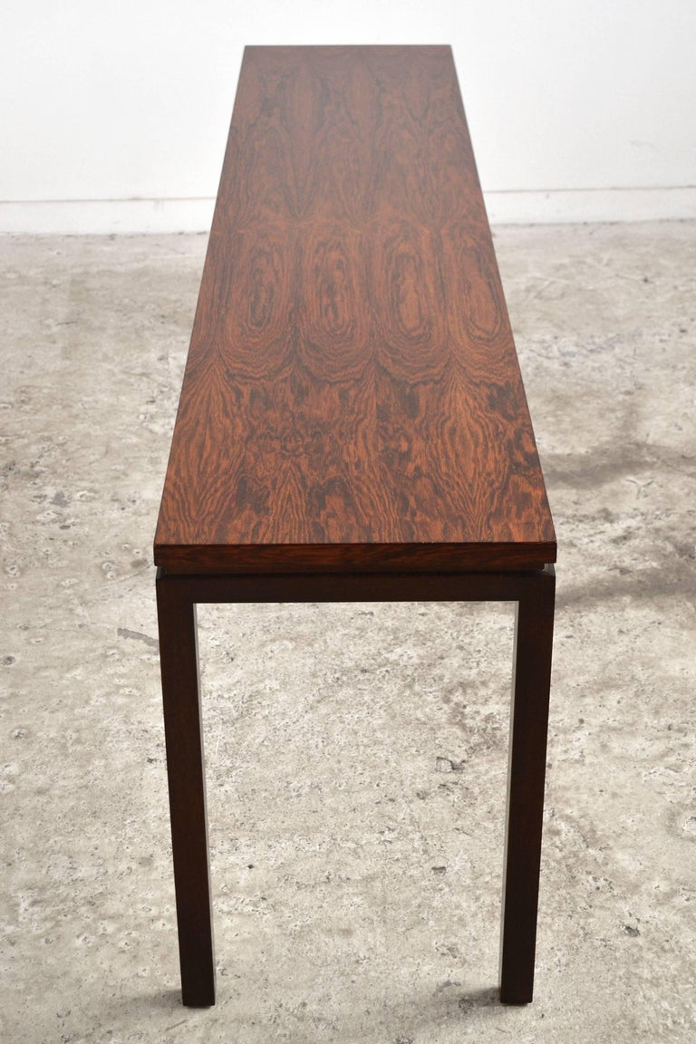 Harvey Probber Rosewood Console Table For Sale 2