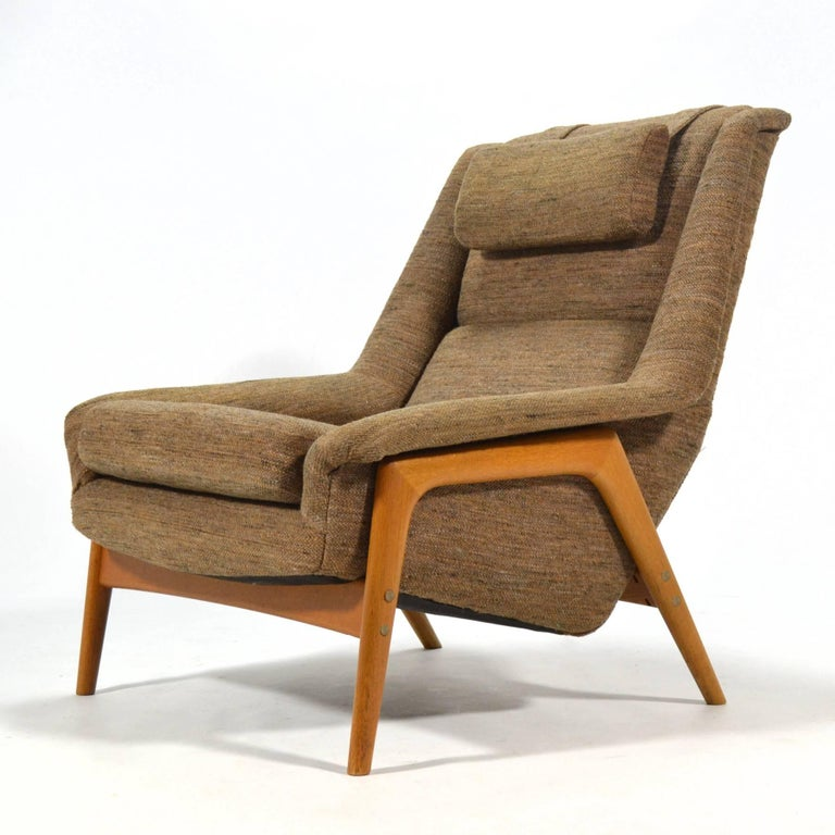 Scandinavian Modern Folke Ohlsson Lounge Chair by DUX For Sale