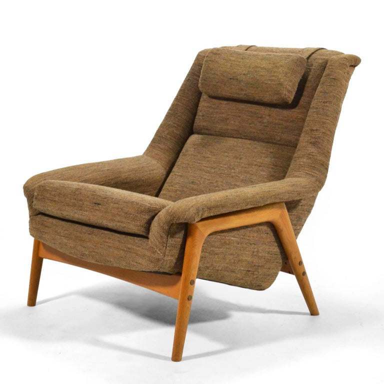 Mid-20th Century Folke Ohlsson Lounge Chair by DUX For Sale