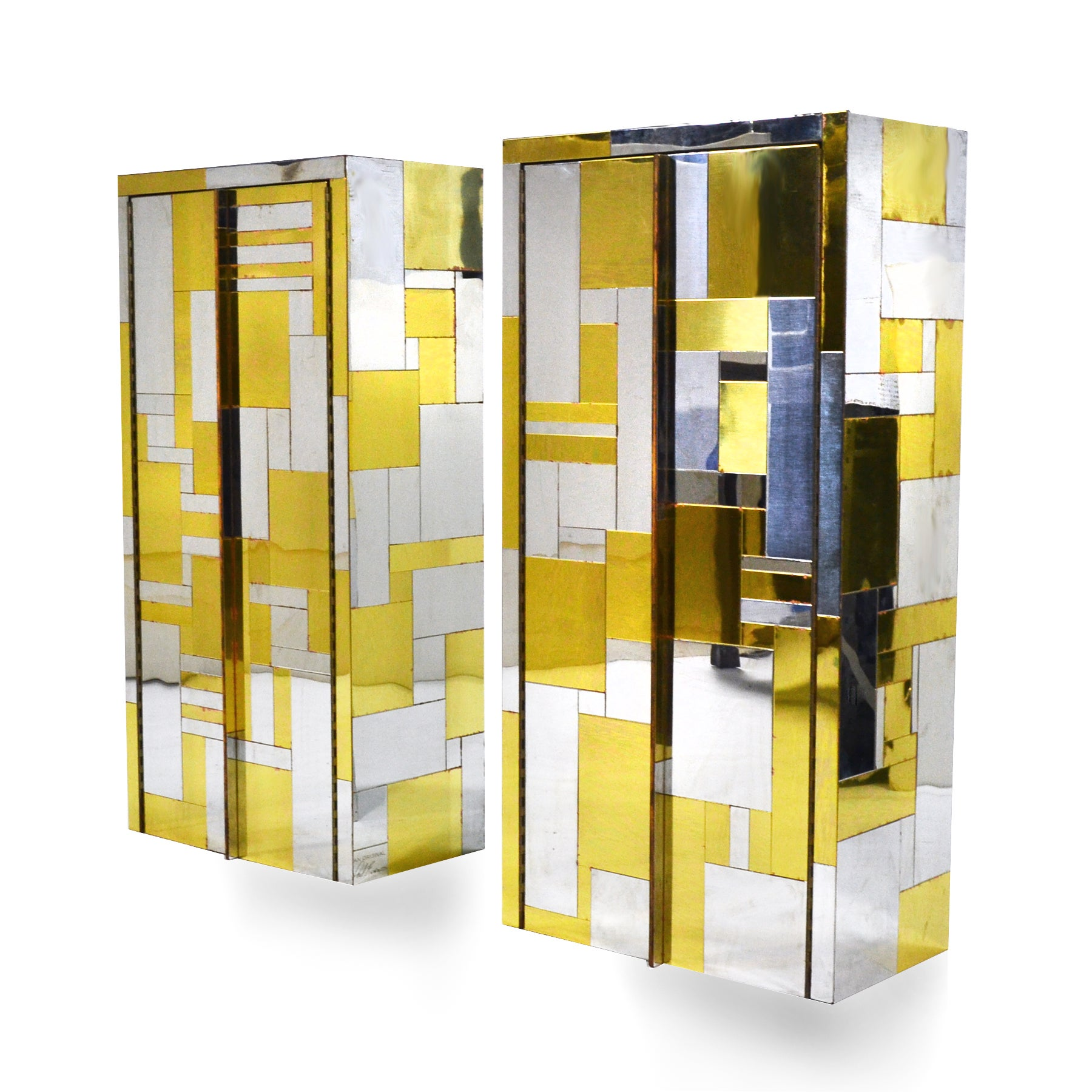 Pair Of Paul Evans Cityscape Wall Mounted Cabinets For Sale At 1stdibs