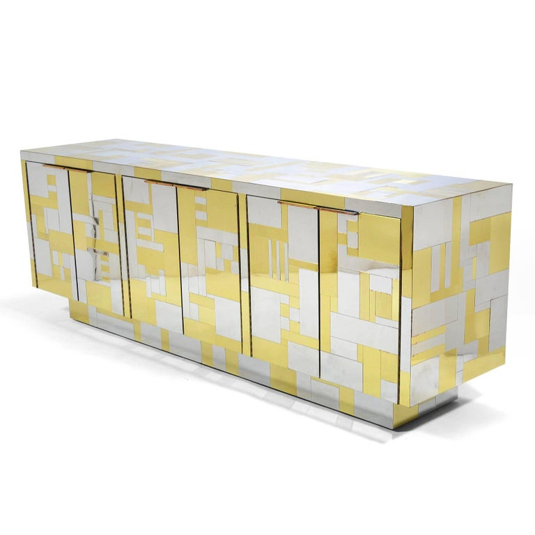 American Paul Evans Cityscape Credenza For Sale