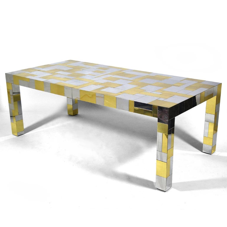 American Paul Evans Cityscape Dining Table For Sale