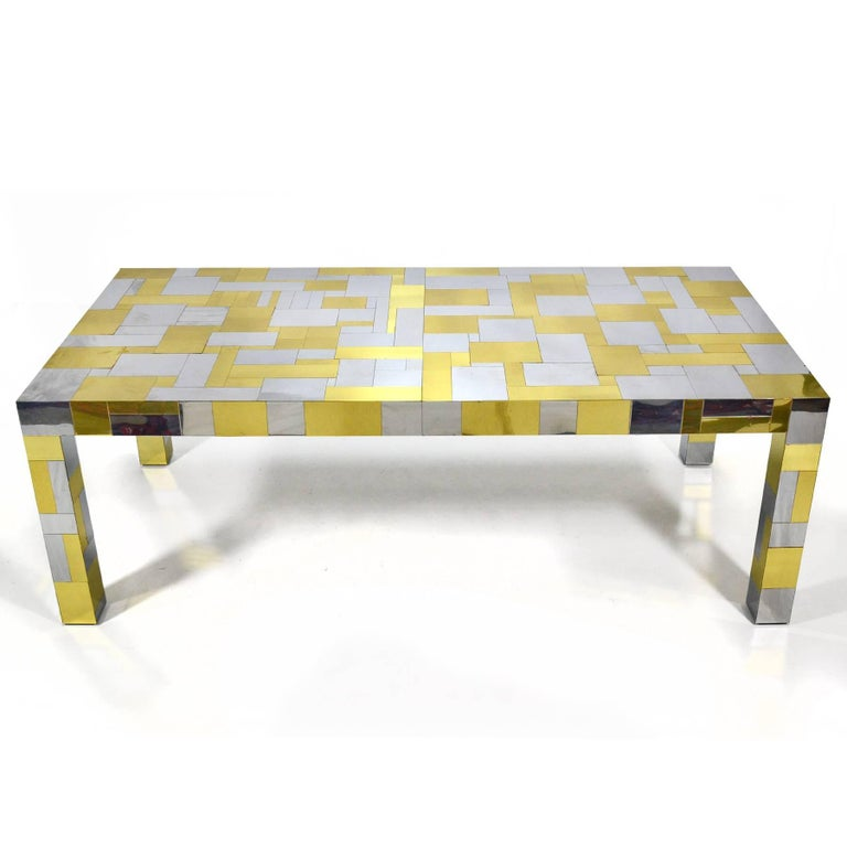 Paul Evans Cityscape Dining Table In Good Condition For Sale In Highland, IN