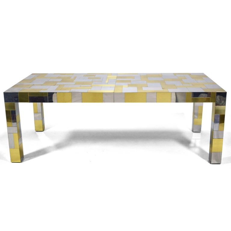 Mid-Century Modern Paul Evans Cityscape Dining Table For Sale