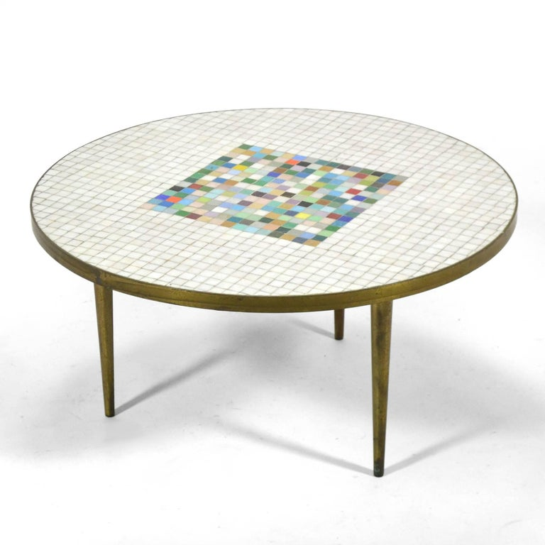 Italian Murano Glass Tile-Top Coffee Table 2