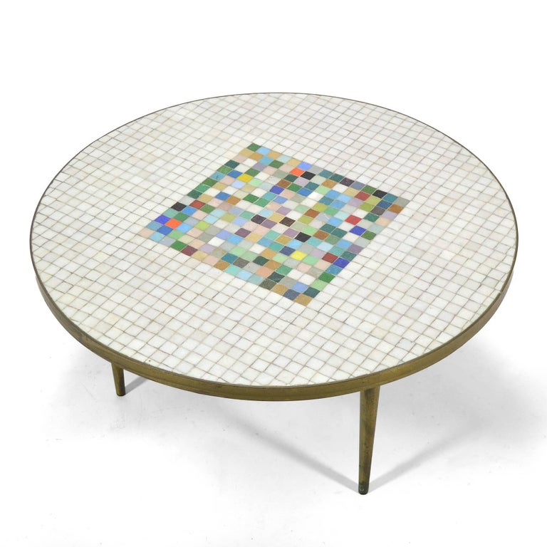 Italian Murano Glass Tile-Top Coffee Table 3