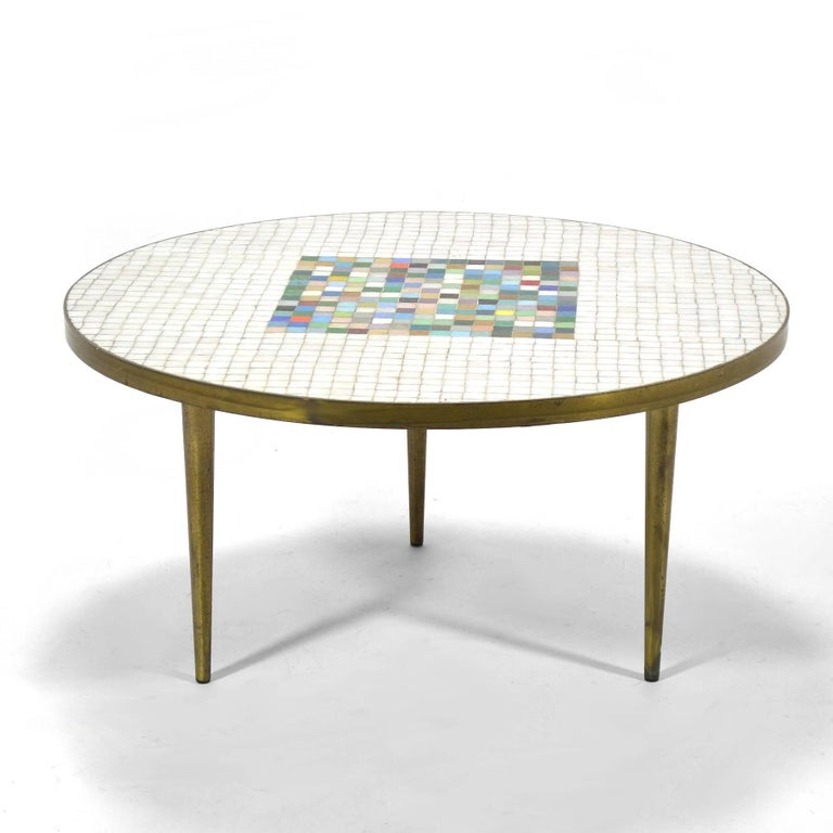 Italian Murano Glass Tile-Top Coffee Table 5