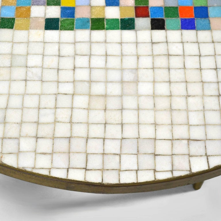 Italian Murano Glass Tile-Top Coffee Table 7