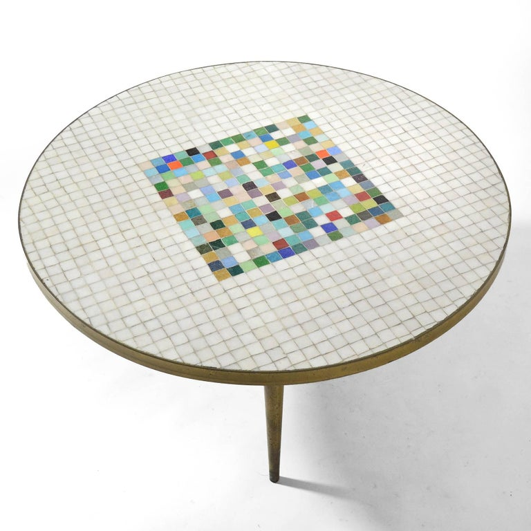 Italian Murano Glass Tile-Top Coffee Table 8