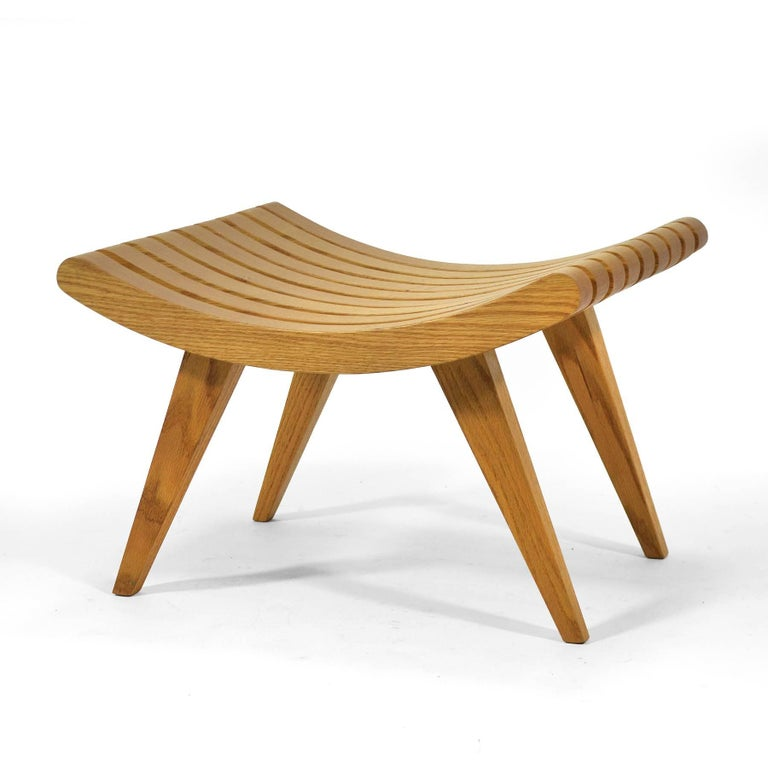 Edward Durell Stone Oak Bench 2