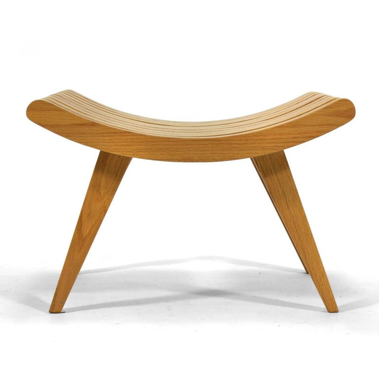 Edward Durell Stone Oak Bench 3
