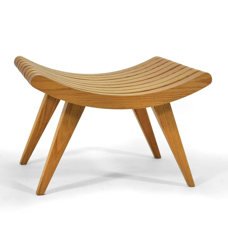 Edward Durell Stone Oak Bench 4