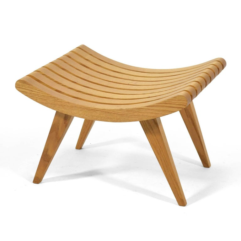 Edward Durell Stone Oak Bench 7