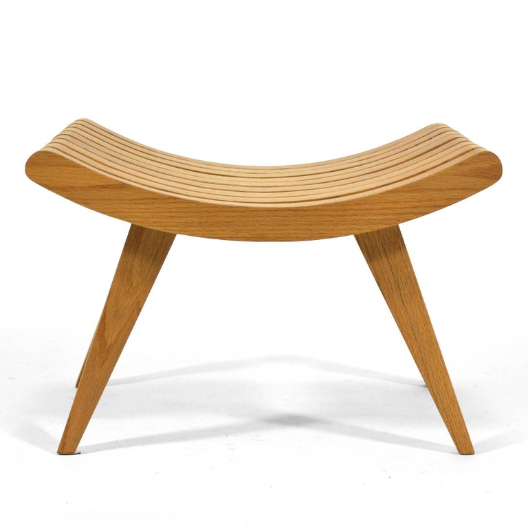 Edward Durell Stone Oak Bench 8