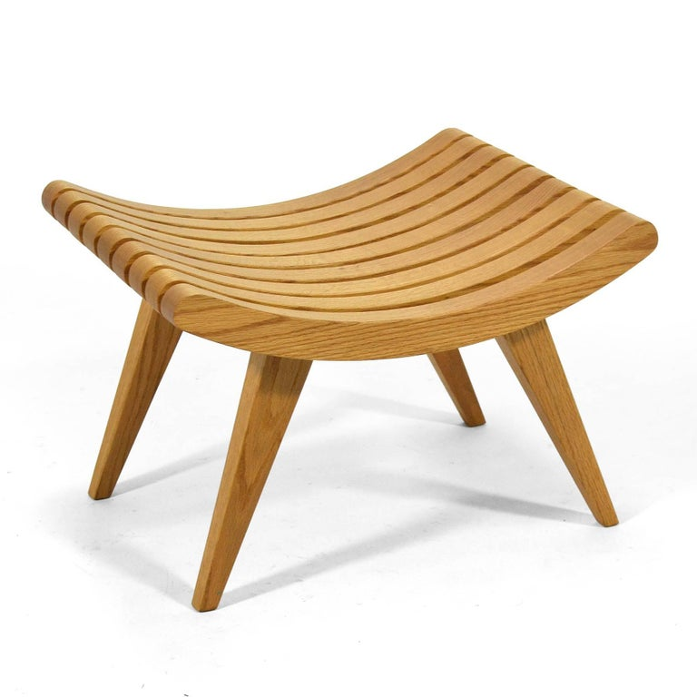 Edward Durell Stone Oak Bench 9