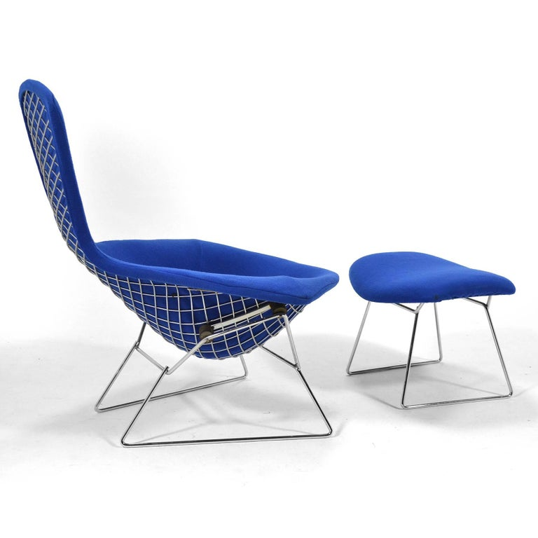 Harry Bertoia Bird Chair and Ottoman by Knoll In Excellent Condition For Sale In Highland, IN